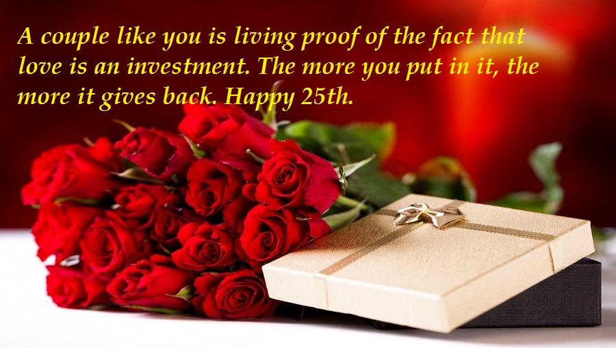 Beautiful 25th Anniversary Wishes