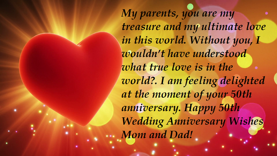 50th wedding anniversary wishes for parents  vitalcute