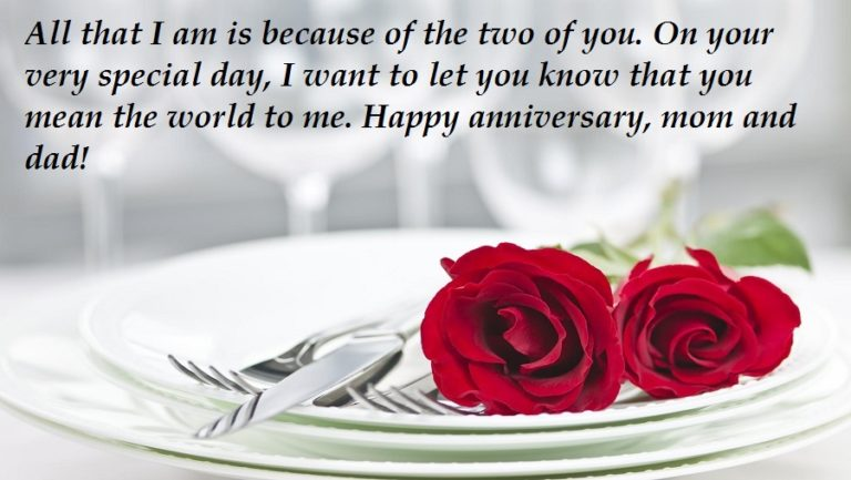 Anniversary Messages For Mom and Dad