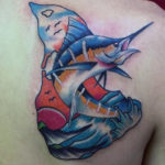 Attractive Fish Tattoo Design
