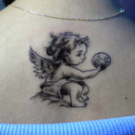 Latest Baby Angel Tattoo Design