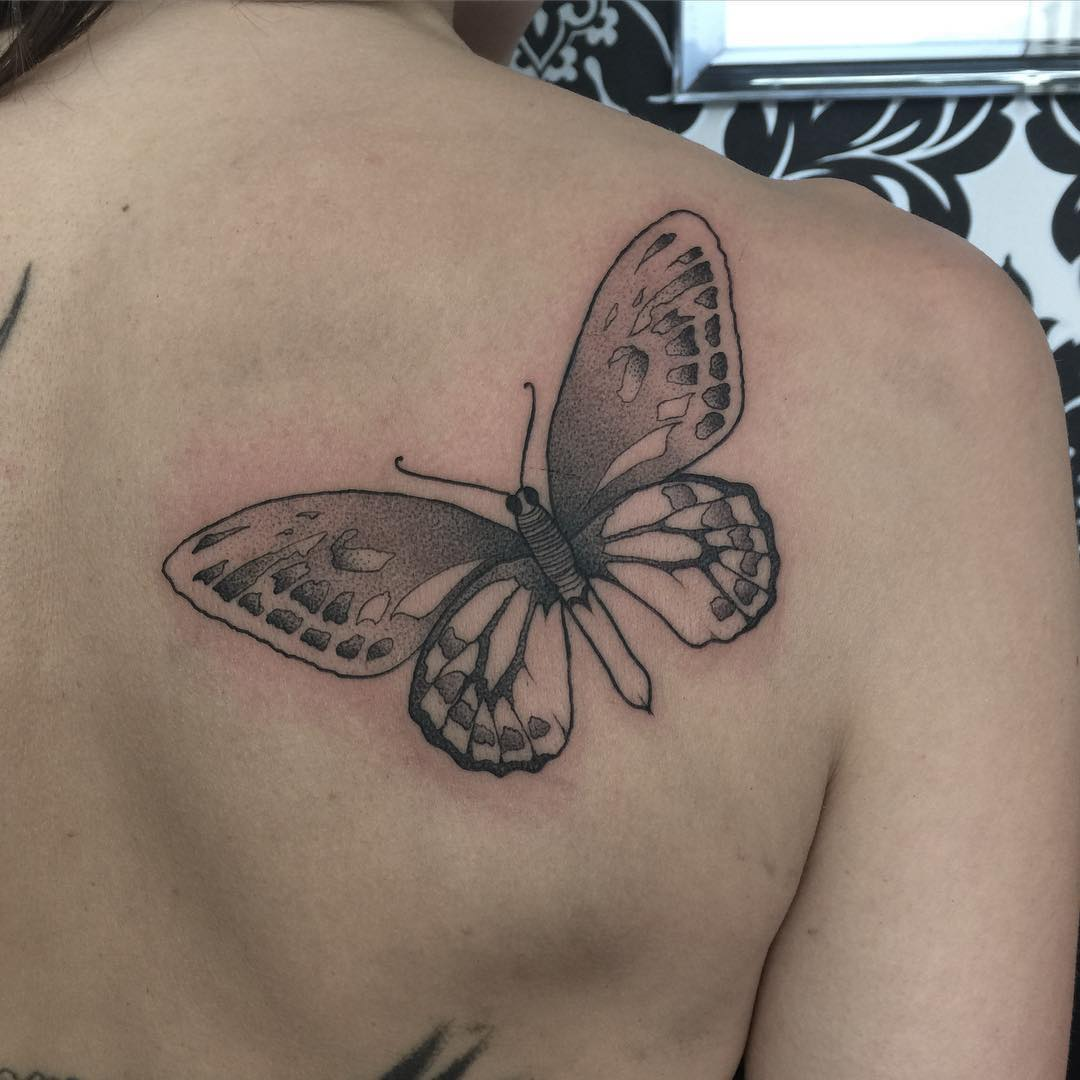 Beautiful Back Tattoo Design For Girls