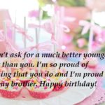 Birthday Wishes For Younger Brother