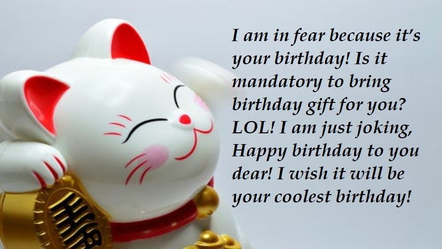 Funny Birthday Wishes For Girlfriend