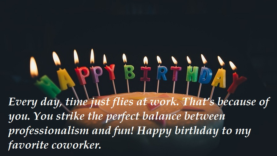 Happy Birthday Messages For Co-worker