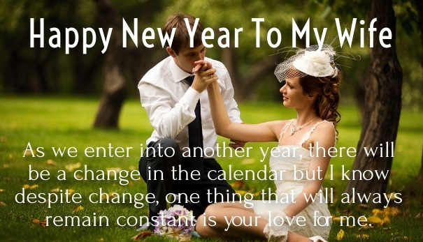 Happy New Year To My Beautiful Wife