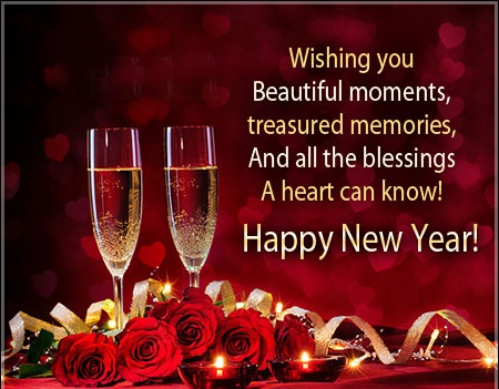 Happy New Year Wishes Card