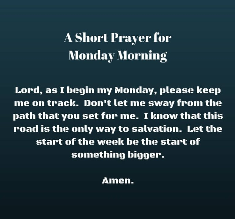 Beautiful Monday Prayer