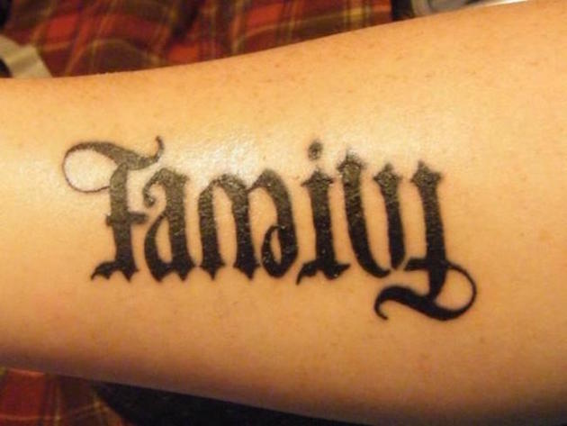 New Ambigram Tattoo Design