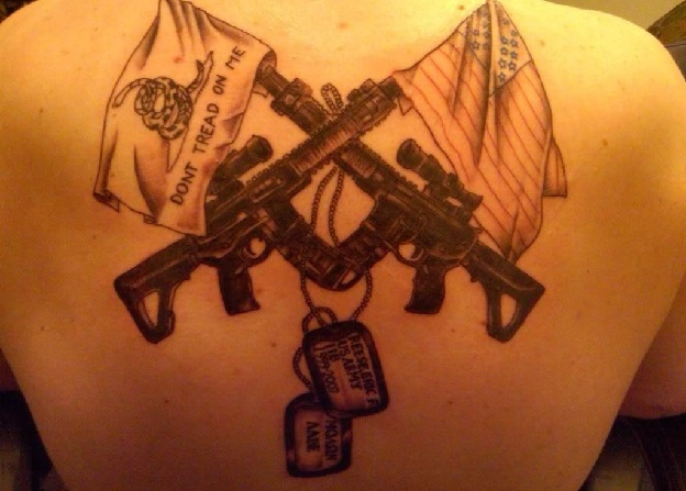 Cool Army Tattoo Design