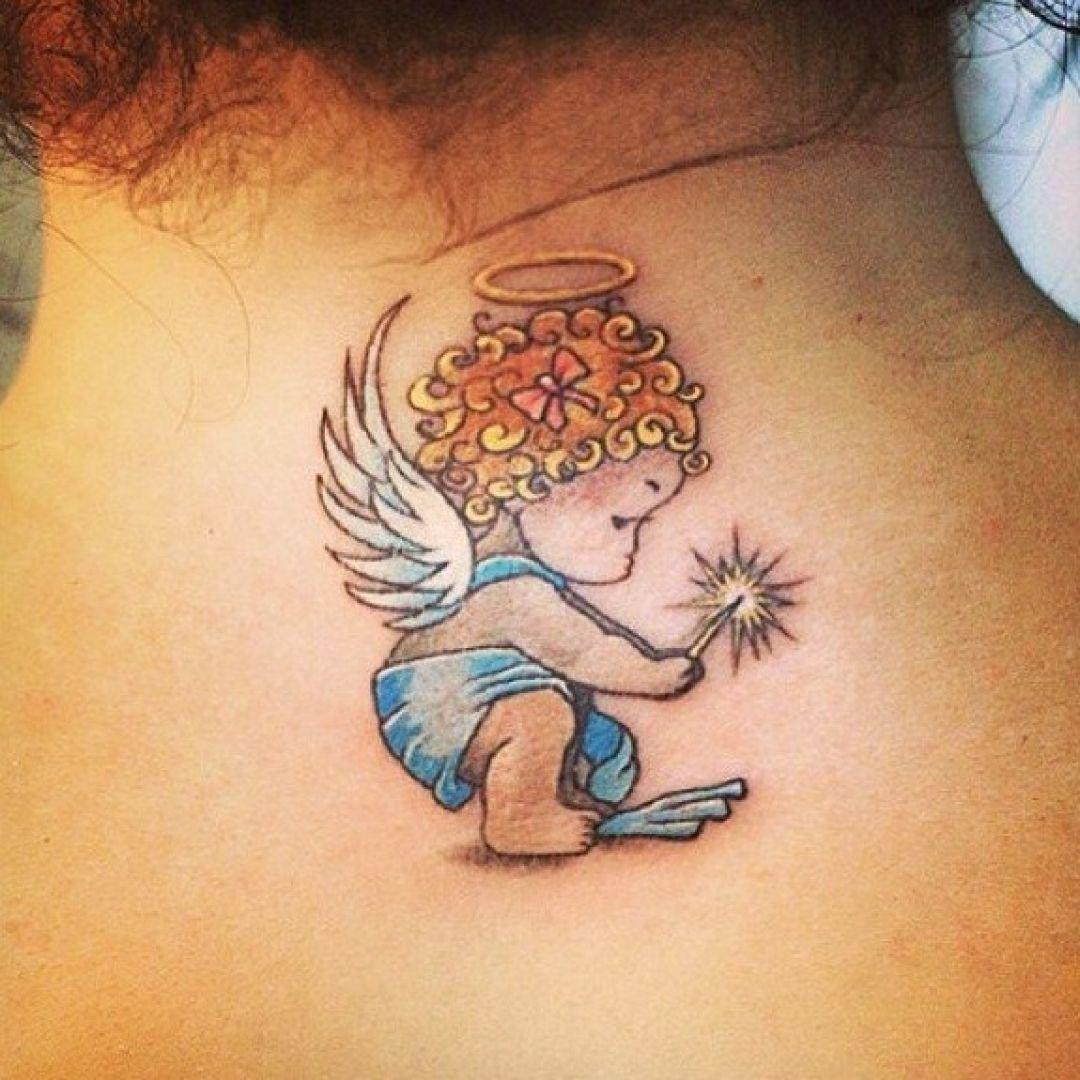 20 Small Angel Tattoo Design