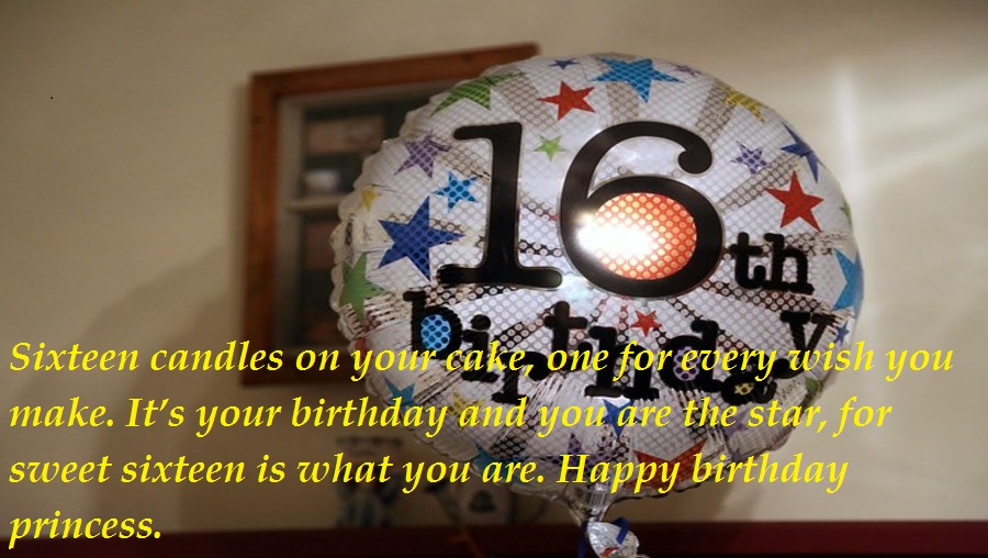 Sweet 16th Birthday Wishes For Daughter