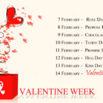 Valentine Week List: The Timetable Calendar