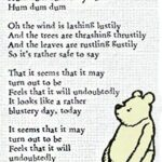 Winnie The Pooh Quotes and Sayings about Blustery Day